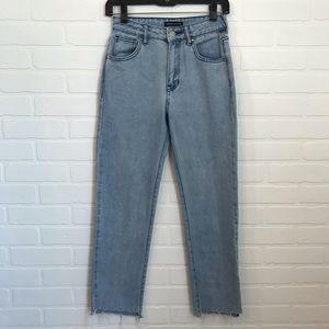 Kendall & Kylie Raw Hem Jeans High Waist Sz 23